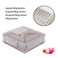 Wholesale manual capsule resale online - 0 holes Acrylic capsule filling board capsule filling device Manual Capsule filling machine manual encapsulator CJ191128