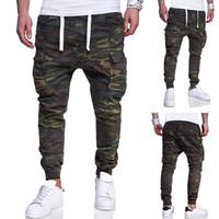 tasarım joggers sweatpants toptan satış-Erkek Tasarımcı Jogging Yapan Kamuflaj Kalem Pantolon Cepler Tasarım Rahat Pantolon Sweatpants