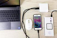universal usb charger laptop venda por atacado-Carregador de parede 61W MACBOOK PRO PD Multiport Carregador USB QC3.0 Rápido Tipo-C Laptop Adaptador USB-C Para iPhone Samsung