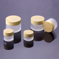 Wood Grain Cover Cream Bottle Lotion Glass Bottles Face Cream Mask Perfume BottleMake Up Tool RRA1237