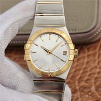 verre de montre mens soutenu achat en gros de-2019 montres de luxe pour hommes montres de designer coaxial mouvement mécanique automatique verre saphir retour à travers 38mm montre étanche pour hommes