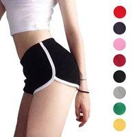 Wholesale cotton spandex yoga pants online - Newly Sexy Women Fitness Sports Shorts Elastic Waist Running Gym Yoga Breathable Cotton Short Pants shop