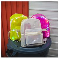 Wholesale pink sports backpacks for sale - Group buy Fashionable Men Women Backpack Fluorescent Cool White Pink Sports Backpacks Fluorescent Practical Wear Resistant Tuba New School Bag qxD1