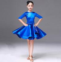 dança de dança para crianças venda por atacado-Estudantes Crianças Kid Latin Dancewear Competição Dancing Clothing Girl Dance Costume Criança Latin Ballet Dance Dress For Girls