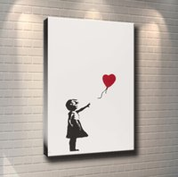 Wholesale paint art nude girls online - Unframed Framed Silver Girl with Balloons Home Decor HD Printed Modern Art Painting on Canvas X36