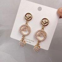 handgewebte perlen großhandel-2019 neue koreanische Mode handgewebte Perle Liebe Ohrringe Persönlichkeit übertrieben süß Temperament Zustrom von Menschen Wang Hao Ohrringe