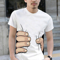 Wholesale funny t shirts for sale resale online - Hot sales Men D T Shirt Short Sleeve Cotton T shirt For Men Famous Breathable O Neck Tops Tees Funny Black Men Clothing