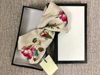 kadın ipek kafa bantları toptan satış-Tasarımcı G Ipek Çapraz Elastik Kadın Bantlar Moda Lüks Kızlar Çiçekler Saç bantları Eşarp Saç Aksesuarları Hediyeler Sıcak Satış En Iyi Headwraps