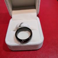 ringe großhandel-Nano Keramik Diamant Ring für Frauen weiß schwarz Farbe Größe 6 bis 10 Designer Schmuck Männer Frau 2019 neue Simple Style Fine Jewelry für die Liebe