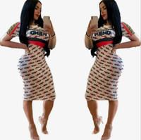 yaz için en rahat kıyafetler toptan satış-Kadınlar için yaz Best seller casual elbise elbiseler tasarımcı elbise yaz Moda Kadınlar elbiseler seksi FF Dijital Alfabe baskılı Elbiseler bodyc