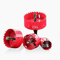 Wholesale hole cutting drill bit resale online - Drilling Hole Saw Cutting Kit Opener Drill Bit Cutter Holesaw for Aluminum Ireon Stainless Steel Plate Metal Plate