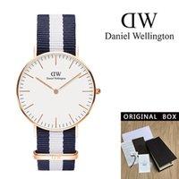 marca famosa cc venda por atacado-2019 famosa marca Daniel mulheres mens relógios de Wellington moda couro estilo 40 / 36mm rosa de ouro mens mulheres relógios com caixa de presente cc relojes
