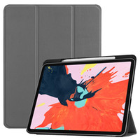 ipad elegante cubierta de pliegues al por mayor-Funda de cuero plegable ultra delgada para folio de PU con ranura para lápices para tableta Apple iPad Pro 11 2018 lanzado Smart Cover