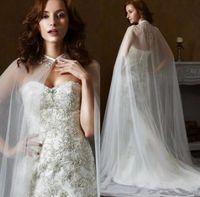 Wholesale cloak shawls dress for sale - Group buy Cheap Wedding Jacket Bridal Shawl Capes Lace Applique T Layers Veil Tulle Bridal Dress Long cloak Custom