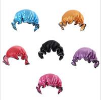 çocuklar mavi duş kapağı toptan satış-şapka Moda Bebek duş keper 6 renk CFYZ191 banyo Peva Yenidoğan duş başlığı çift katlı Banyo şapkalar çocuklar nokta Bebek bone