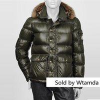 armee-stil daunenjacke großhandel-Winterjacke Mode Baumwolle lässig dicke Taschen unten Jaqueta Masculina Army Style Windbreaker Pelzkragen Mantel