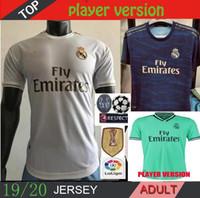 Wholesale Player Version Real Madrid Soccer Jerseys Kits Home Away RD HAZARD camiseta de fútbol SRERGIO RAMOS MODRIC Sets Football Shirts