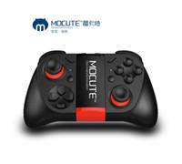 mini joystick pc großhandel-MOCUTE 050 Wireless Gamepad Mini Bluetooth Spiel Controller Android Joystick VR CF Newgame Spielkonsole Für TV Box Tablet PC Smartphone
