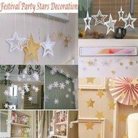 weihnachtsbaum silber stern ornamente großhandel-Christmas Drop Ornamente White Snowflake Golden Silver Star Ornamente Christbaumschmuck Dekorationen Home Festival Decor