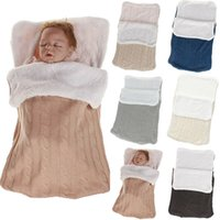 Baby Sleeping Bags Baby Footmuff Liner Pushchair Stroller Buggy Pram Cosy Toes Car Seat Knitted Fuzzy Winter Warm Sleepwear
