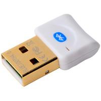 csr usb venda por atacado-Mini USB Bluetooth V4.0 Dual Mode Dongle Sem Fio banhado a Ouro conector CSR 4.0 Transmissor De Áudio Adaptador Para Win7 / 8 / XP 25