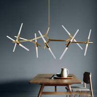 tepe aydınlatması toptan satış-Yaratıcı Şube Sanat Roll Hill Agnes Kolye Işık lamba Modern İtalyan Tasarım Kişilik Oturma Odası Restoran Lambaları fikstür