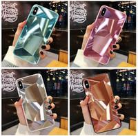 caja de diamante 3d al por mayor-Caja de cristal para Apple iPhone Diamond Glass para iPhone estilo All Anti-fall function TPU + Glass Material Cell Phone Accessories DHL