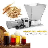 Wholesale corn grinder machine for sale - Group buy Whole Grains Mill Grinder Processor Superfine Large Manual Powder Machine Stainless Steel Malt Corn Grain Crusher Rollers