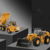 Wholesale loader for sale - Group buy HN Diecast Dump Truck Wheel Tractor Shovel Loader Alloy Model Toy In One Suit Scale Ornament Xmas Kid Birthday Gift Collecting