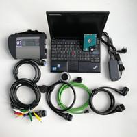 gebrauchten laptop i7 großhandel-Selbstreparaturdiagnosewerkzeug automotivo Scanner OBD2 MB Stern C4 Sd Vertrag C4 + benutzter Laptop X201 I7 8G + neue 320GB HDD neueste Software V07.2019