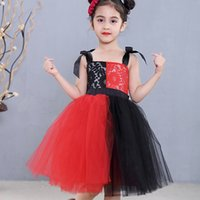 Wholesale photographs clothing resale online - Fashion Girls Tutu Party Dress Lace Princess Tulle Vestidos Kids Clothes Birthday Halloween Cosplay for Ys Photograph Wear