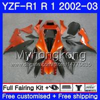 laranja r1 venda por atacado-Bodys Para YAMAHA YZF R 1 YZF 1000 Laranja CORONA quente YZF-1000 YZFR1 02 03 Carroçaria 237HM.17 YZF R1 02 YZF1000 YZF-R1 2002 2003 Carenagem