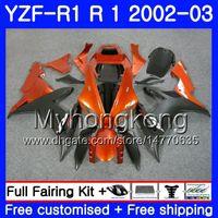 ingrosso arancione yzf r1-Bodys per YAMAHA YZF R 1 YZF 1000 Orange CORONA hot YZF-1000 YZFR1 02 03 Carrozzeria 237HM.17 YZF R1 02 YZF1000 YZF-R1 2002 2003 Telaio per carenatura