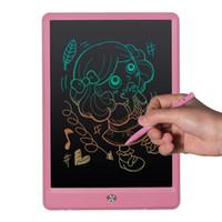canetas para notebooks venda por atacado-10 polegada Prancheta de Escrita Tablet LCD High Light Blackboard Paperless Notepad Memo Pads de Escrita Com Caneta Atualizada Presente para Crianças