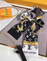 bufanda de zorro azul al por mayor-Diseñador CALIENTE Pañuelo de seda del bolso del bolso de las vendas de las nuevas mujeres de lujo Patrón, láminas cintas para el pelo 100% de grado superior de seda bolsa bufanda 7x120cm eligen