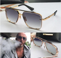 gafas de sol sin marco vintage al por mayor-Las nuevas gafas de sol de lujo para hombres diseñan gafas de sol vintage de estilo de moda sin lentes cuadradas UV 400 con estuche original