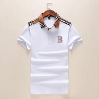 erkekler tasarım yaka gömlekleri toptan satış-Yeni 2019 Erkek Tasarımcı Polos Marka küçük at Timsah Nakış giyim erkekler kumaş mektubu polo t-shirt yaka rahat t-shirt tee gömlek