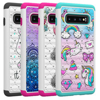 Wholesale iphone pc hard case for sale - For Samsung S10 Case Luxury Diamond Bling Rhinestone Case Hard PC Soft TPU Dual Layer Hybrid Protective Cover for Samsung S10 Plus