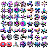 Wholesale spinner toys for sale - Group buy 120 types In stock Fidget spinner Rainbow hand spinners Tri Fidget Metal Gyro Dragon wings eye finger toys spinning top handspinner witn box