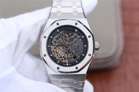 Wholesale pointer hand online - JF st oo st luxury watch mechanical movement hollow dial rose gold timewatch oak pointer sapphire glass mens watches