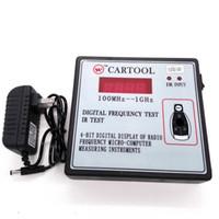 auto transponder chip für opel großhandel-Hochwertige Auto IR Infrarot-Fernbedienung Schlüssel Frequenz Tester (Frequenzbereich 100-1000 MHz) Fernbedienung Digital Frequenz Test CARTOOL