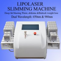 Wholesale dual laser diode resale online - laser slimming machine dual wavelength lipo laser pads fat removal machine fat burning beauty laser equipment