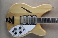 Wholesale left hand guitar 12 string resale online - Custom string electric guitar original wood ribbon pickups chrome hardware customizable