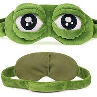 komik çizgi film maskeleri toptan satış-Komik Karikatür Uyku Yumuşak Maske Sevimli Kurbağa Hayvan Göz Kapağı Süper Yumuşak Göz Körü Körüne Uyku Çocuk Yetişkinler Için Yapmak