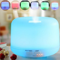 Wholesale electric aromatherapy diffuser light resale online - 300ml Remote Control Ultrasonic Air Aroma Humidifier With Color LED Lights Electric Aromatherapy Essential Oil Aroma Diffuser
