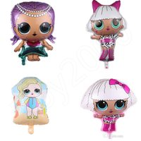 Wholesale baby cartoon model resale online - 18inch Surprise Balloons Cartoon Balloons Kids Aluminium Foil Balloon Baby Shower Girl Party Room Decoration Supplies kids toys