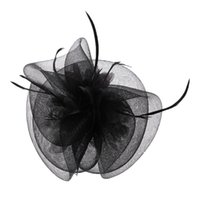 Wholesale women party clip hats resale online - Women Fascinator Hairpin Hat Hair Clips Party Headwear Feather Floral Tiaras New D