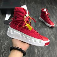 zapatos de correr para mujer al por mayor-2019 Nuevo Y3 Bashyo High Top para mujer para hombre Zapatillas de deporte Triple Negro Blanco Rojo Botas de alta calidad Zapatillas de deporte Zapatillas de running Zapatillas de running de diseñador Y-3