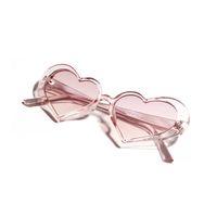 melocotón gafas de sol mujeres al por mayor-Pink Peach Heart Sunglasses Women 2019 Retro Love Sunglasses Fashion Europe y American Heart en forma de marco de gafas