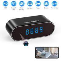 Wholesale h 264 dvr ip camera for sale - Group buy H WiFi Table Clock Mini Camera P HD IP P2P DVR Camcorder Alarm Set Night Vision Motion Sensor Remote Monitor Micro Cam